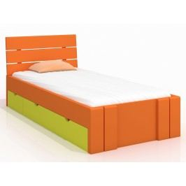 Jednolůžková postel 120 cm - Naturlig Kids - Tosen High Drawers (borovice) (s roštem)