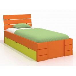 Jednolůžková postel 120 cm - Naturlig Kids - Lorenskog High Drawers (borovice) (s roštem)