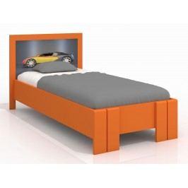 Jednolůžková postel 90 cm - Naturlig Kids - Manglerud High (borovice) (s roštem)