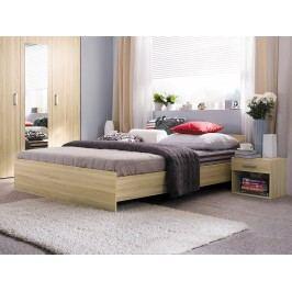 Manželská postel 160 cm - BRW - Libera - LOZ/160