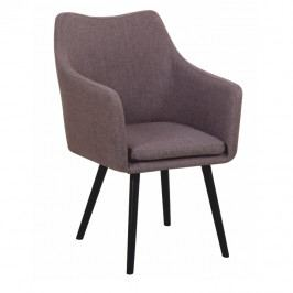 Jídelní židle Dabir (šedohnědá)