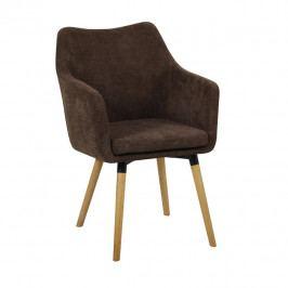 Jídelní židle Dabir (tmavohnědá)