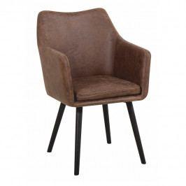 Jídelní židle Dabir (hnědošedá)