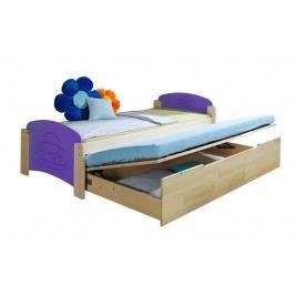 Rozkládací postel 90 cm Jeno (s rošty a úl. prostorem)