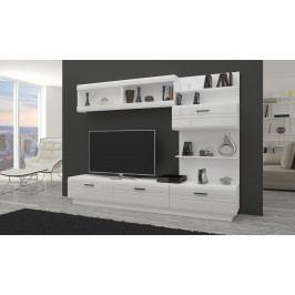 Obývací stěna Alford (bílá + lesk bílý)