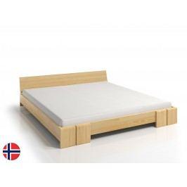 Manželská postel 180 cm Naturlig Galember Long (borovice) (s roštem)