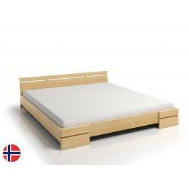 Manželská postel 160 cm Naturlig Bavergen Long (borovice) (s roštem)