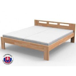 Manželská postel 140 cm - Styler - Nela (masiv)