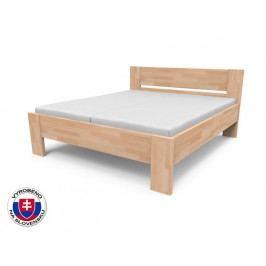 Manželská postel 140 cm - Styler - Nikoleta - plné čelo (masiv)