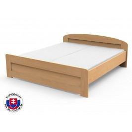 Manželská postel 160 cm - Styler - Petra - rovné čelo u nohou (masiv)