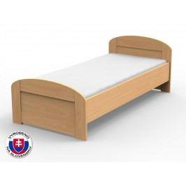 Jednolůžková postel 120 cm - Styler - Petra - oblé čelo u nohou (masiv)
