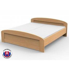 Manželská postel 170 cm - Styler - Petra - oblé čelo u nohou (masiv)