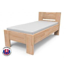 Jednolůžková postel 220x100 cm - Styler - Nikoleta - plné čelo (masiv)