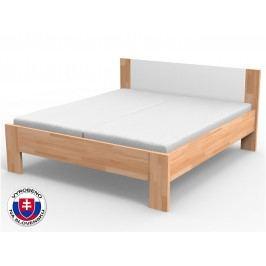 Manželská postel 220x140 cm - Styler - Nikoleta - čalouněný čelo (masiv)