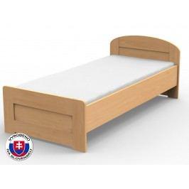 Jednolůžková postel 220x100 cm - Styler - Petra - rovné čelo u nohou (masiv)