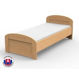 Jednolůžková postel 210x120 cm - Styler - Petra - oblé čelo u nohou (masiv)