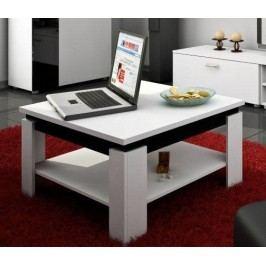 Konferenční stolek - WIP - Alfa (Bílá + Lesk černý)