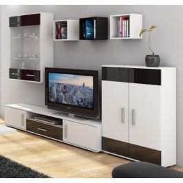 Obývací stěna - WIP - Solar Bílá + Lesk černý