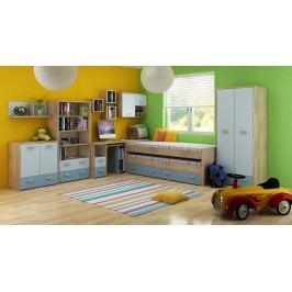 Dětský pokoj - WIP - Kitty 1 Sonoma světlá + modrá