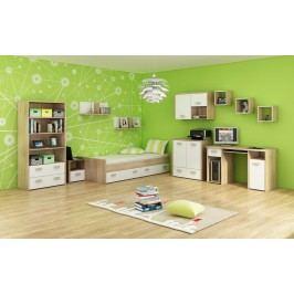 Studentský pokoj - WIP - Kitty 3 Sonoma světlá + bílá