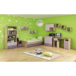 Studentský pokoj - WIP - Kitty 3 Sonoma světlá + fialová