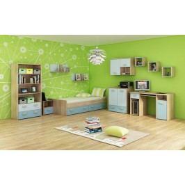 Studentský pokoj - WIP - Kitty 3 Sonoma světlá + modrá
