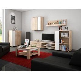 Obývací stěna - WIP - Sky 4 Sonoma + bílá