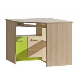 Rohový PC stolek - Ego - L11 zelená