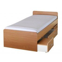 Jednolůžková postel 90 cm - Duet 80262 buk -22