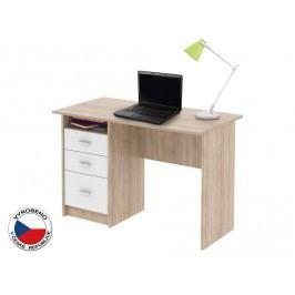 PC stolek - Samson Dub sonoma + Bílá
