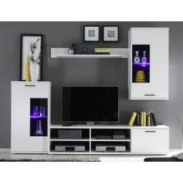 Obývací stěna - Frontal 1 (s osvětlením)