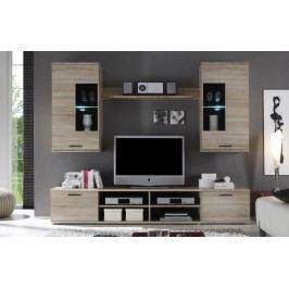 Obývací stěna - Frontal 2 (s osvětlením)