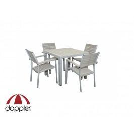Zahradní nábytek - Doppler - Genua 1+4 (hliník + polywood)