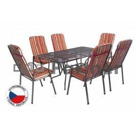 Záhradní nábytek - Deokork - Sandra 1+6 U508 (kov)