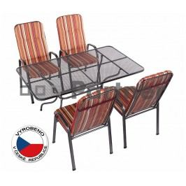 Záhradní nábytek - Deokork - Sandra 1+4 U507 (kov)