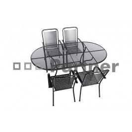 Zahradní nábytek - Deokork - Savana II 190 cm 1+4 (Kov)