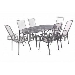 Zahradní nábytek - Deokork - Olivie 1+6 (stůl 160 cm) (Kov)