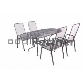 Zahradní nábytek - Deokork - Olivie 1+4 (stůl 160 cm) (Kov)