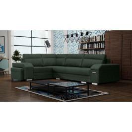 Rohová sedací souprava Alfredo (zelená) (L)