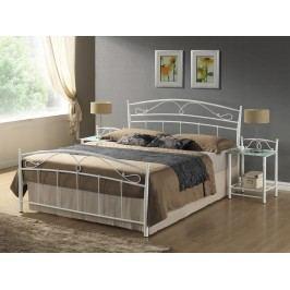 Manželská postel 160 cm - Signal - Siena bílá (s roštem)
