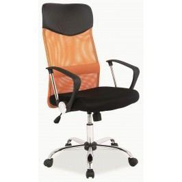 Kancelářska židle - Signal - Q-025 oranžová + černá