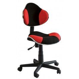 Detská židle - Signal - Q-G2 látka, červeno-černá