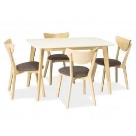 Jídelní stůl - Signal - Combo (bílá) (pro 4 osoby)