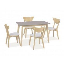 Jídelní stůl - Signal - Combo (truflová + dub bílý) (pro 4 osoby)