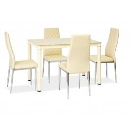 Jídelní stůl - Signal - Galant (krém) (pro 4 osoby)