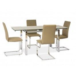 Jídelní stůl - Signal - GD-020 (tmavě béžová) (pro 6 osob až 8 osob)