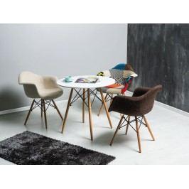 Jídelní stůl - Signal - Soho 90x90 (bílá + buk) (pro 4 osoby)