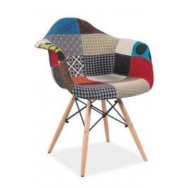 Barová židle - Signal - Denis (patchwork vícebarevný)
