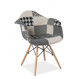 Barová židle - Signal - Denis (patchwork šedý)