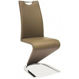 Jídelní židle - Signal - H-090 (ekokůže cappuccino)